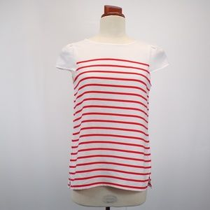 Ann Taylor Sheer Striped Blouse XS